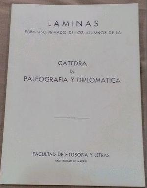 LAMINAS DE CATEDRA DE PALEOGRAFIA Y DIPLOMATICA