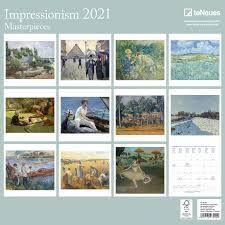 CALENDARIO 2021 IMPRESSIONISM 30X30
