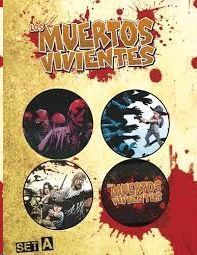 SET 4 CHAPAS LOS MUERTES VIVIENTES A