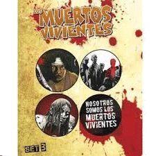 SET 4 CHAPAS LOS MUERTES VIVIENTES B