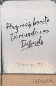 CALENDARIO DEFREDS 2019: HAZ MAS BONITO TU MUNDO CON DEFREDS