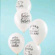 WONDERFUL GLOBOS BODORRIOS 10 UD. BLANCO-NEGRO