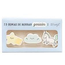 WONDERFUL GOMAS DE BORRAR GENIALES 3 UD.