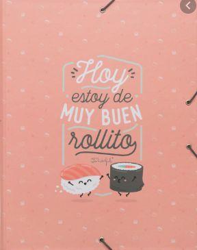WONDERFUL CARPETA SEPARADORA HOY ESTOY DE MUY BUEN ROLLITO