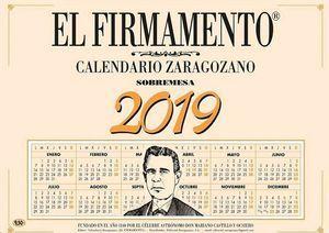 FIRMAMENTO CALENDARIO ZARAGOZANO 2019 SOBREMESA PLANING
