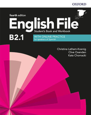 ENGLISH FILE INTERMEDIATE PLUS 4ED B2.1 STUDENT S BOOK WORK BOOK WITH KEY PACK (4RD EDITION)