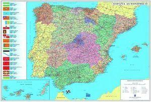 MAPA PLASTIFICADO ESPAÑA PORTUGAL