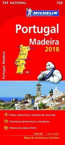 MAPA DE CARRETERAS PORTUGAL Y MADEIRA 2018