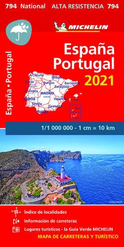 MAPA NATIONAL ESPAÑA PORTUGAL ALTA RESISTENCIA 2021