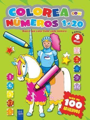 COLOREA CON NUMEROS 1-10, AMARILLO