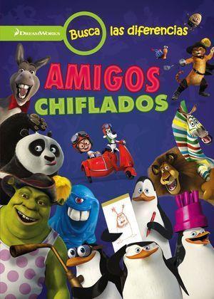 DREAMWORKS. BUSCA LAS DIFERENCIAS. AMIGOS CHIFLADOS