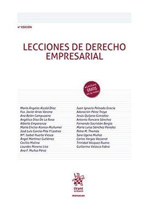 LECCIONES DE DERECHO EMPRESARIAL 4ª EDICIÓN 2020