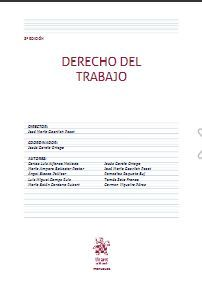 DERECHO DEL TRABAJO. 8ª EDICIÓN 2020