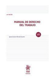 MANUAL DE DERECHO DEL TRABAJO. 10ª EDICIÓN 2020