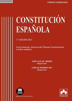 CONSTITUCIÓN ESPAÑOLA - CÓDIGO COMENTADO. 7º ED 2021