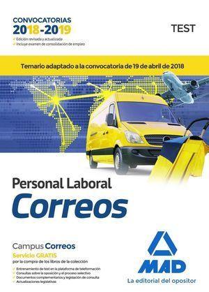 PERSONAL LABORAL DE CORREOS Y TELÉGRAFOS 2018. TEST