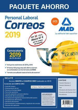 PAQUETE AHORRO PERSONAL LABORAL CORREOS. MAD 2019
