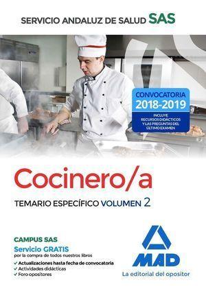 COCINERO/A 2018 SAS SERVICIO ANDALUZ SALUD. TEMARIO ESPECIFICO 2
