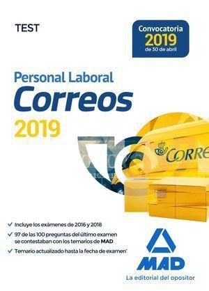 PERSONAL LABORAL DE CORREOS Y TELÉGRAFOS. TEST MAD 2019