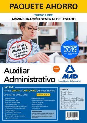 PAQUETE AHORRO AUXILIAR ADMINISTRATIVO DEL ESTADO.