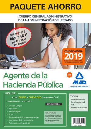 PAQUETE AHORRO AGENTES DE LA HACIENDA PÚBLICA 2020. AHORRA 68 €