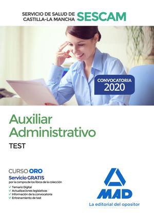AUXILIAR ADMINISTRATIVO (SESCAM). TEST DEL TEMARIO