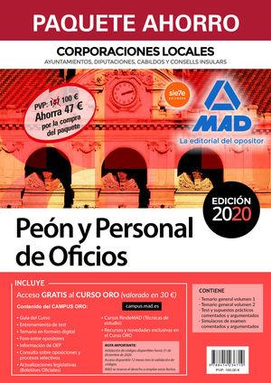PAQUETE AHORRO PEÓN Y PERSONAL DE OFICIOS DE CORPORACIONES LOCALES. AHORRO DE 47
