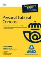 PERSONAL LABORAL CORREOS TEST 2020 MAD