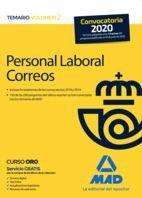 PERSONAL LABORAL CORREOS TEMARIO II MAD 2020