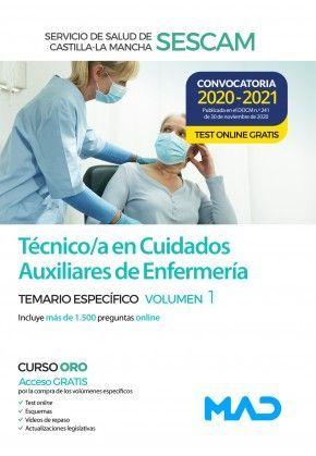 2021 TÉCNICO CUIDADOS AUXILIARES ENFERMERÍA SESCAM. TEMARIO ESPECIFICO 1