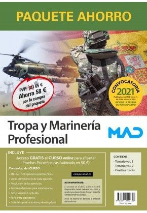 2021 PACK TROPA Y MARINERÍA PROFESIONAL MAD