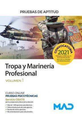 2021 TROPA MARINERÍA PROFESIONAL PRUEBAS APTITUD VOLUMEN 1 MAD