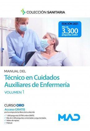 2021 MANUAL TECNICO CUIDADOS AUXILIARES ENFERMERIA TEMARIO I  MAD