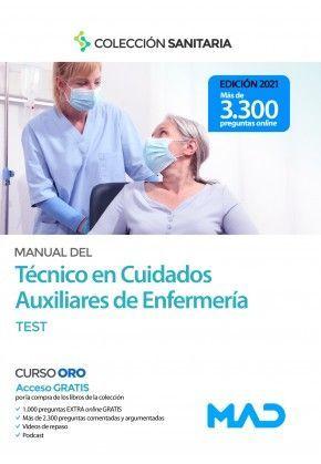 2021 MANUAL TECNICO CUIDADOS AUXILIARES ENFERMERIA  TEST  MAD