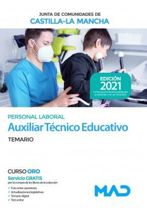 2021 AUXILIAR TECNICO EDUCATIVO JCCM TEMARIO VOLUMEN 1 MAD