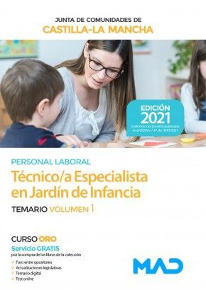 2021 TECNICO ESPECIALISTA JARDIN DE INFANCIA JCCM. TEMARIO I