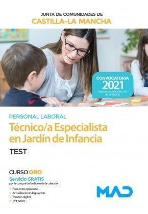 2021 TEST TÉCNICO ESPECIALISTA JARDÍN INFANCIA JCCM