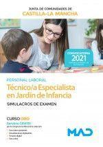 2021 TECNICO ESPECIALISTA JARDIN DE INFANCIA JCCM SIMULACROS DE EXAMEN. MAD