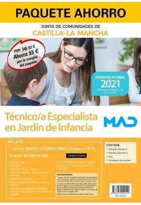 2021 PACK TECNICO ESPECIALISTA JARDIN DE INFANCIA JCCM. MAD