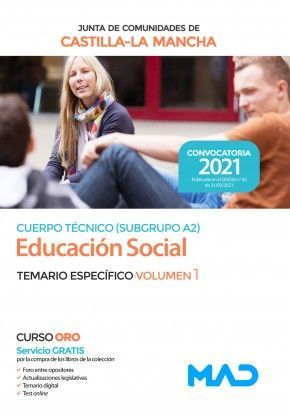 2021 EDUCADOR SOCIAL JCCM TEMARIO ESPECIFICO I . MAD