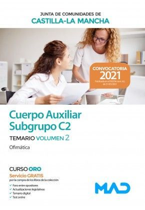 2021 AUXILIAR ADMINISTRATIVO JCCM. TEMARIO 2 (OFIMÁTICA) (SUBGRUPO C2)