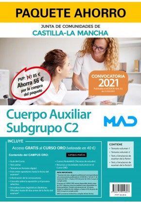 2021 PACK AHORRO AUXILIAR ADMINISTRATIVO JCCM (SUBGRUPO C2) MAD