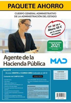 2021 PACK AGENTE DE LA HACIENDA PÚBLICA. MINISTERIO DE HACIENDA. MAD