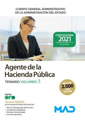 2021 AGENTE DE LA HACIENDA PUBLICA TEMARIO 3. MAD