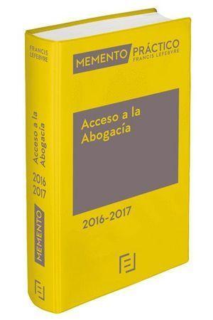 MEMENTO PRÁCTICO ACCESO A LA ABOGACÍA 2016-2017