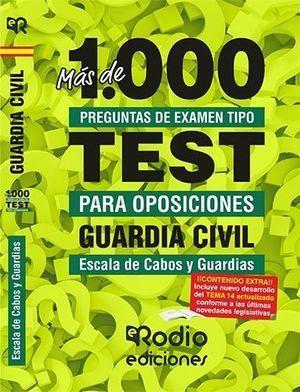 MAS DE 1.000 PREGUNTAS DE EXAMEN PARA GUARDIA CIVIL. ESCALA DE CABOS Y GUARDIAS.