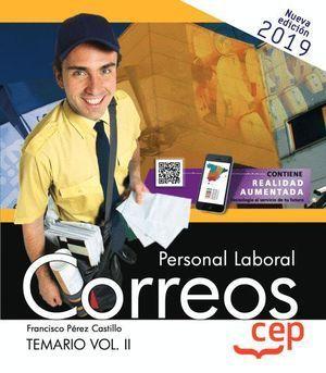 PERSONAL LABORAL CORREOS TEMARIO II. 2019