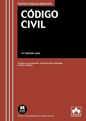 CÓDIGO CIVIL. 18ª ED. 2020