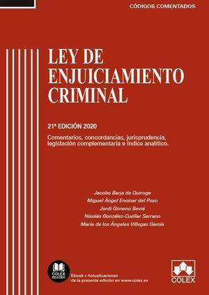 LEY DE ENJUICIAMIENTO CRIMINAL. 21 ED. 2020