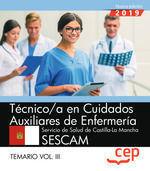 TECNICO CUIDADOS AUXILIARES ENFERMERIA SESCAM TEMARIO III CEP 2019